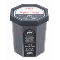 """3"""" Black Ripple Pins - Neji"""