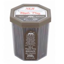 """3""""Bronze Ripple Pins - Neji"""